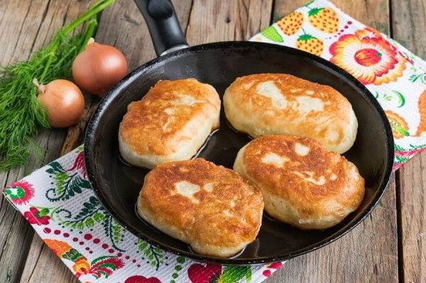 Жареные пирожки с картошкой и печенью 13 | Жареные пирожки ...