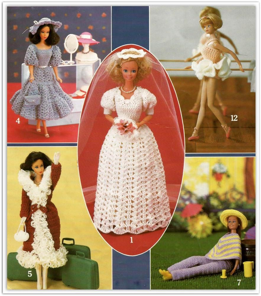 Crochet Barbie Clothes Patterns 12 Outfits To Crochet For A Fashion Doll E Book Pdf
