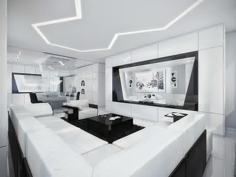 Fascinating Black and White Interiors Design with Striped Decorations - http://www.mbabayarea.com/fascinating-black-and-white-interiors-design-with-striped-decorations/