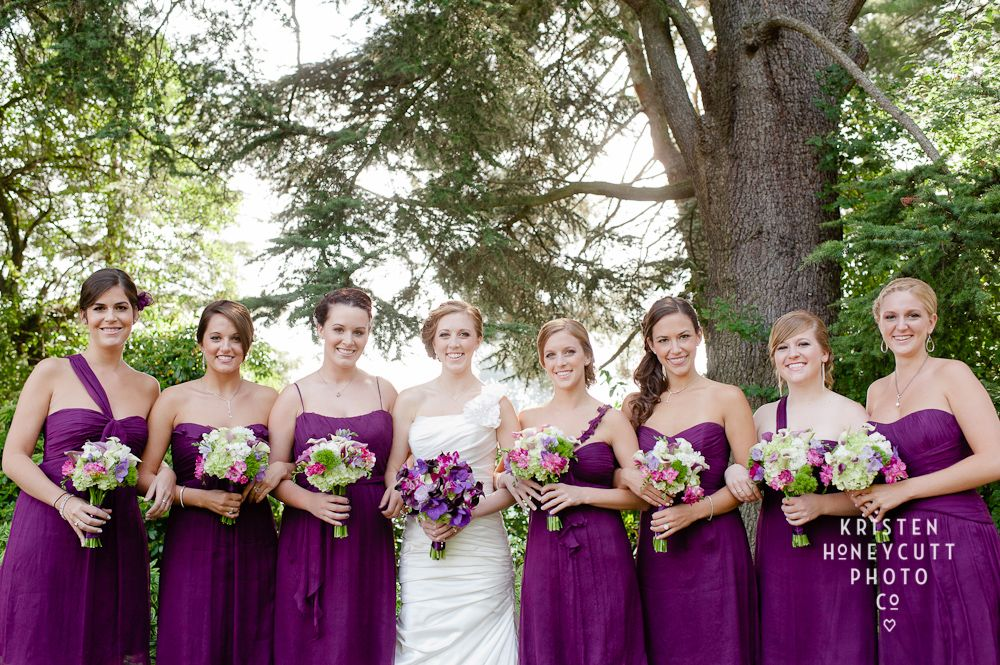 Amethyst Purple Bridesmaids. Wedding Planning & Design by Simply Wed.   www.simplywed.com