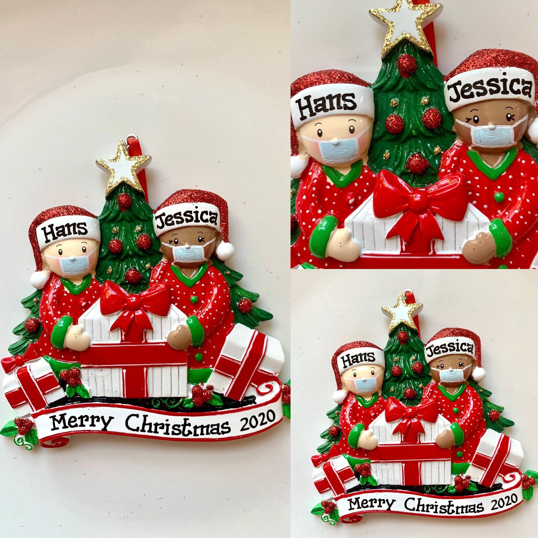 Pin On Personalized 2020 Face Mask Christmas Ornament
