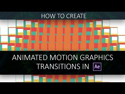 After Effects Tutorial : ANIMATED TRANSITION (Motion Graphics) by