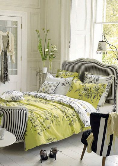 Light Gray And Yellow Color Scheme Calm Fall Decorating Ideas Bedroom Decor Bed Design Home