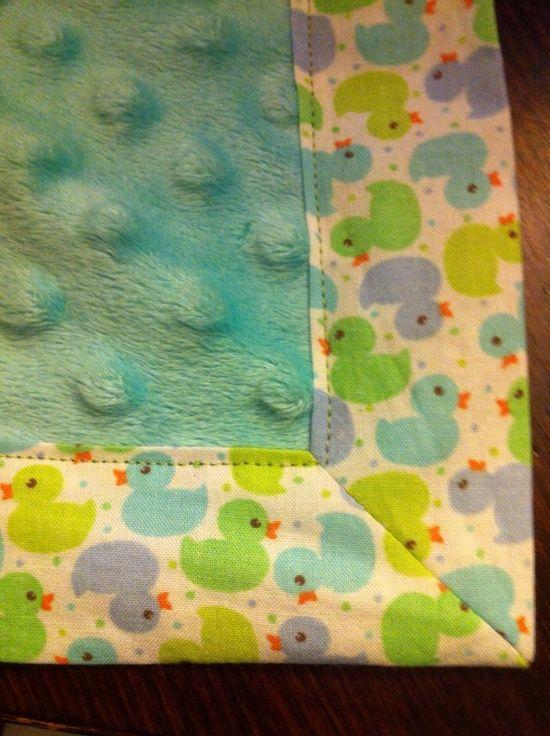 How to Sew a Nice Corner on a Blanket | Rezept | Nähprojekte, Nähen ...