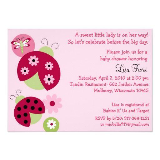 Ladybug dragonfly baby shower invitations ladybug baby shower ladybug dragonfly baby shower invitations filmwisefo Images