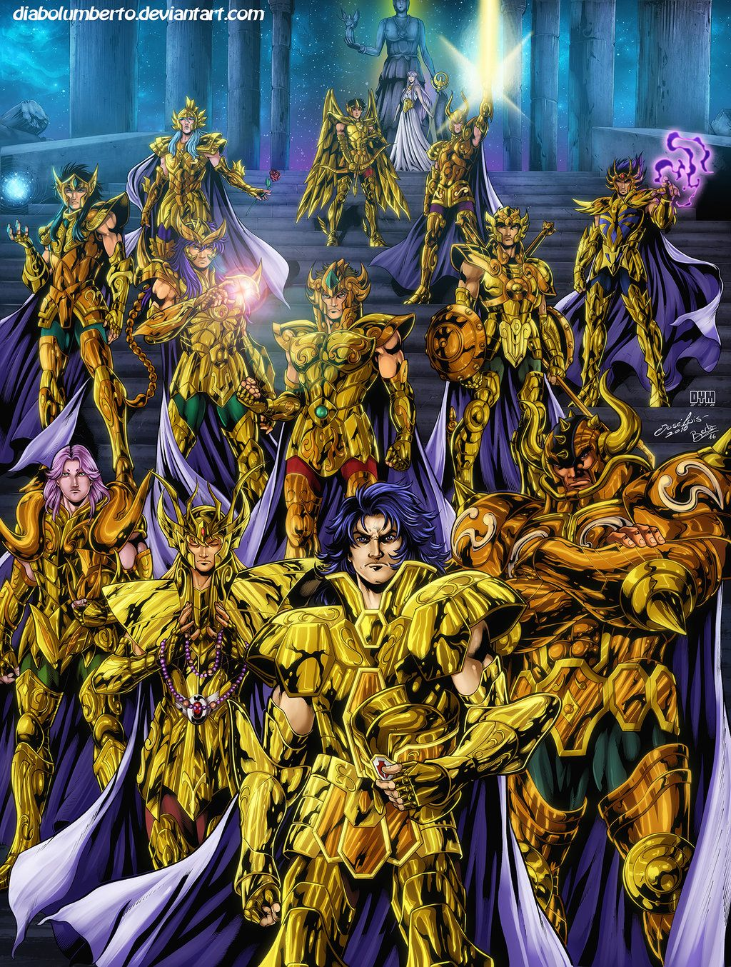 Saint Seiya Gold Saints By Diabolumberto Les Chevaliers Du
