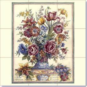 Hand Painted Ceramic Tiles Decorative Tile Murals Kitchen Backsplash By Art