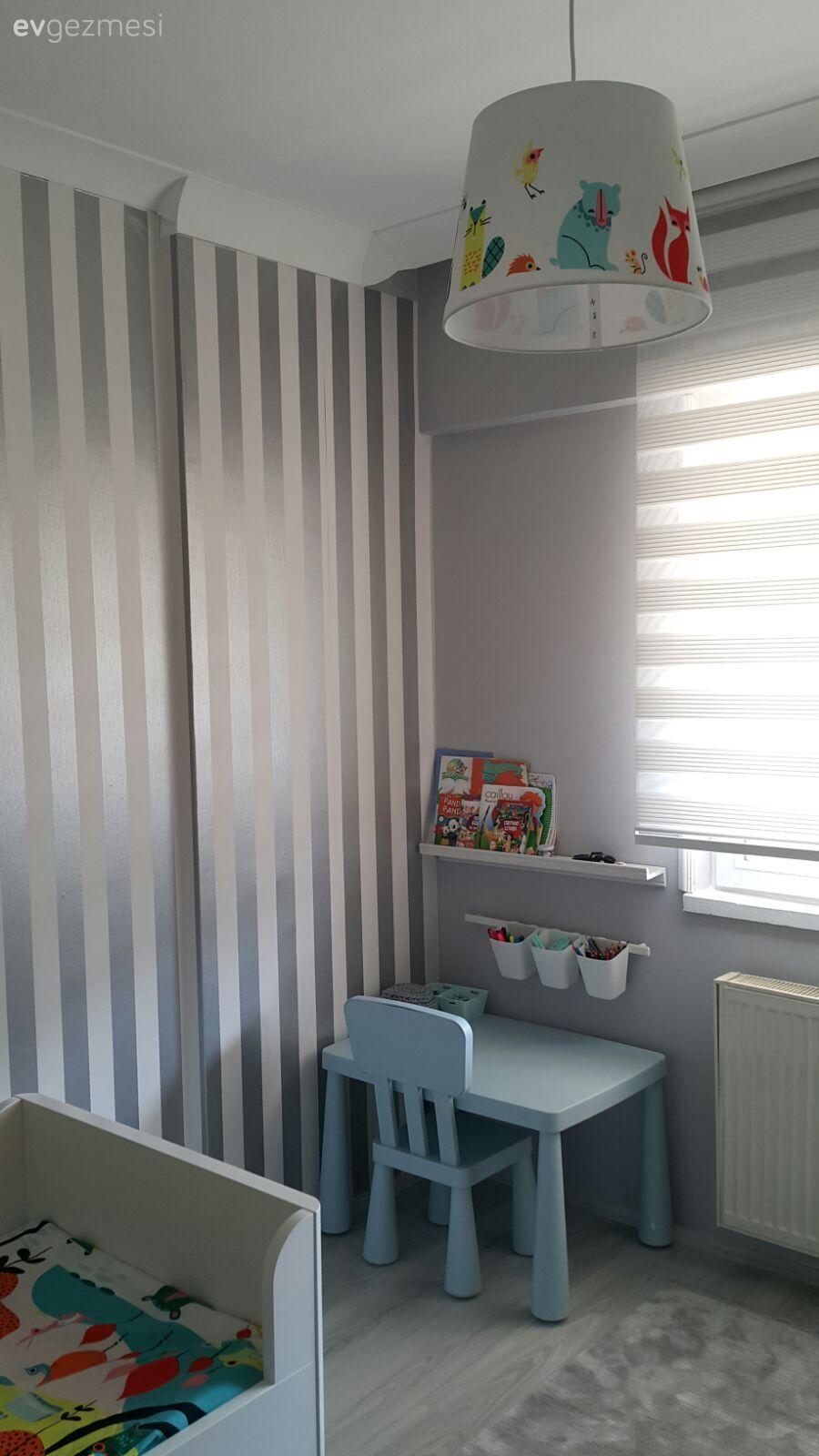 Dorukun anne ve babasının tasarlayıp, el emeği ile yaptıkları odası..