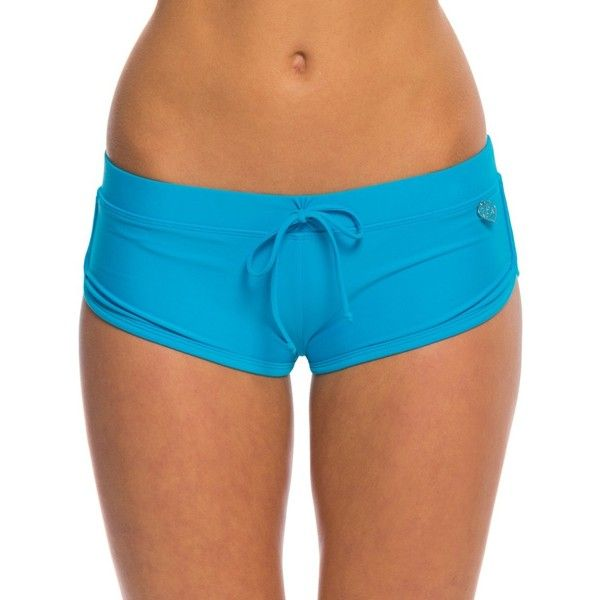 c9c30d244a9c68 Body Glove Swimwear Smoothies Sidekick Sporty Boy Short Bikini Bottom ($32)  ❤ liked on