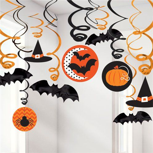 Haunted Spider Halloween Pumpkin Garland Scary Ghost Hanging Decor House Paper