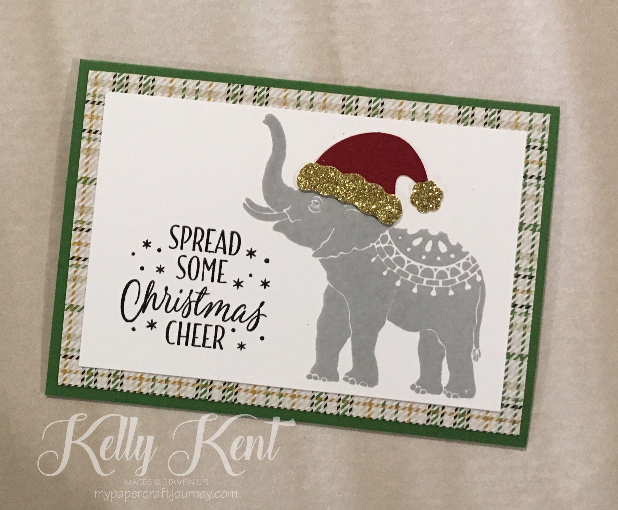 Lucky Elephant Christmas Card. Kelly Kent - mypapercraftjourney.com ...