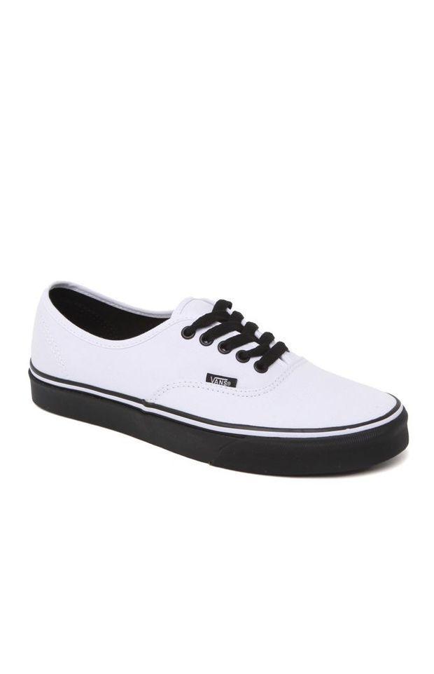 Vans Authentic Black Sole Shoes - Mens
