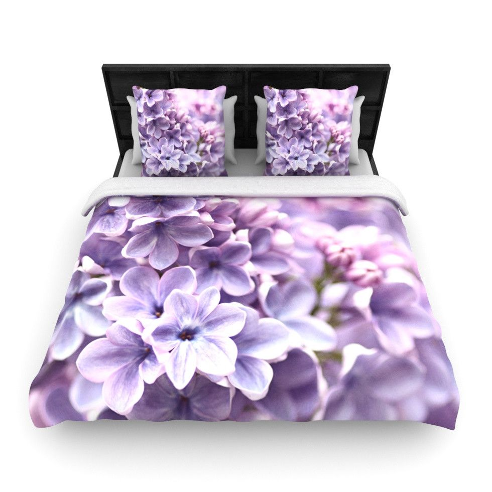 KESS InHouse Lilac by Sylvia Cook Woven Duvet Cover