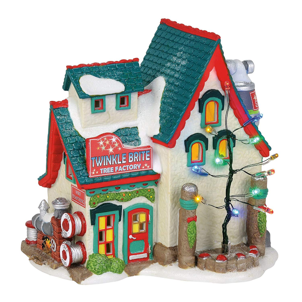 Amazonsmile Department 56 North Pole Village Series Twinkle Brite Tree Factory Christmas Village Collections Christmas Villages Outdoor Christmas Decorations