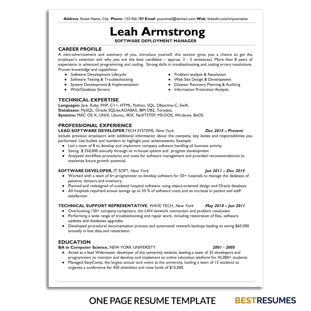 Resume Template Leah Armstrong Bestresumes Info Video Video Resume Template Business Plan Template Business Resume Template