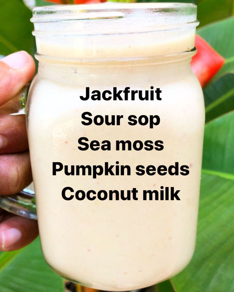 Rawbotanicalsja On Instagram So This Was The Resulting Sea Moss Smoothie With Our Jackfruit A Hea Sea Moss Irish Moss Recipes Healthy Drinks Smoothies