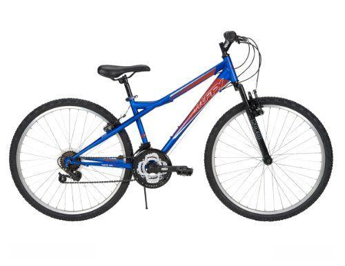 Huffy Men S Tundra Mountain Bike Matte Blue 26 Inch Medium On Sale