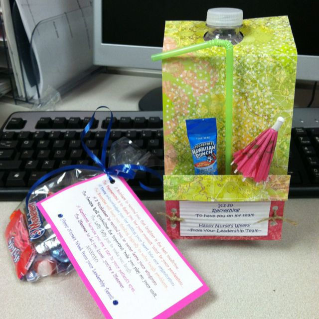 Nurses day gifts Bag of candy..... Include a Snicker ...