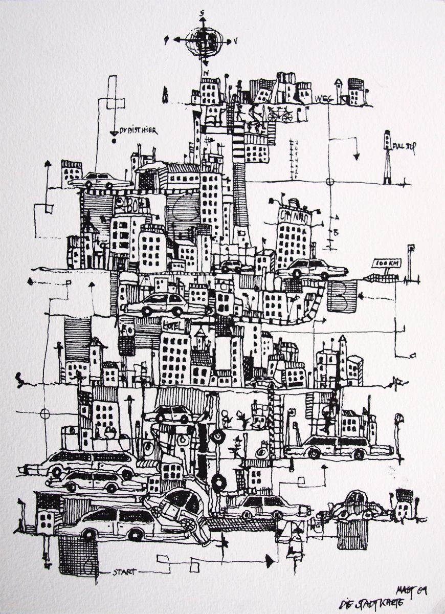 die-stadtkarte-lyscontrast-en-illustration-af-kunstner-marianne-stenberg.jpg (870×1200)
