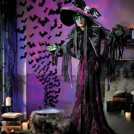 Katherine\u0027s Collection Life-Size Minerva Discordia Witch Figure - life size halloween decorations