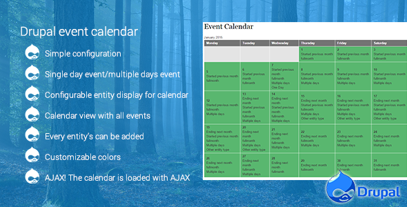 Evendar  Event CalendarPicker  CodeScriptsAndPlugins