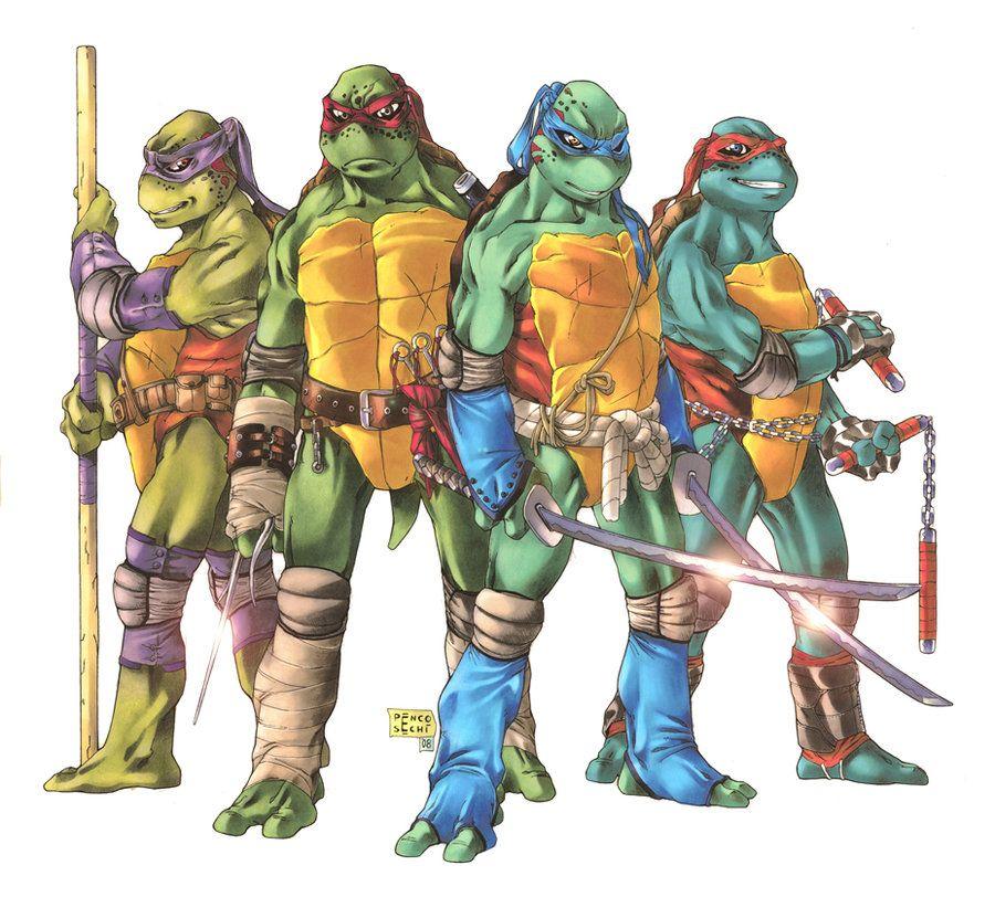 Tmnt deluxe four by lady valiant on deviantart the geek files pinterest tortues ninja - Mechant tortues ninja ...