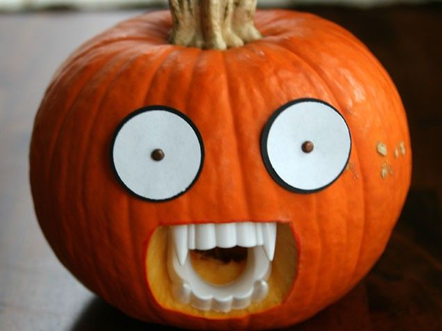 Prop up you pumpkin! Check out our favorite pumpkin decorating and carving ideas. #Halloween