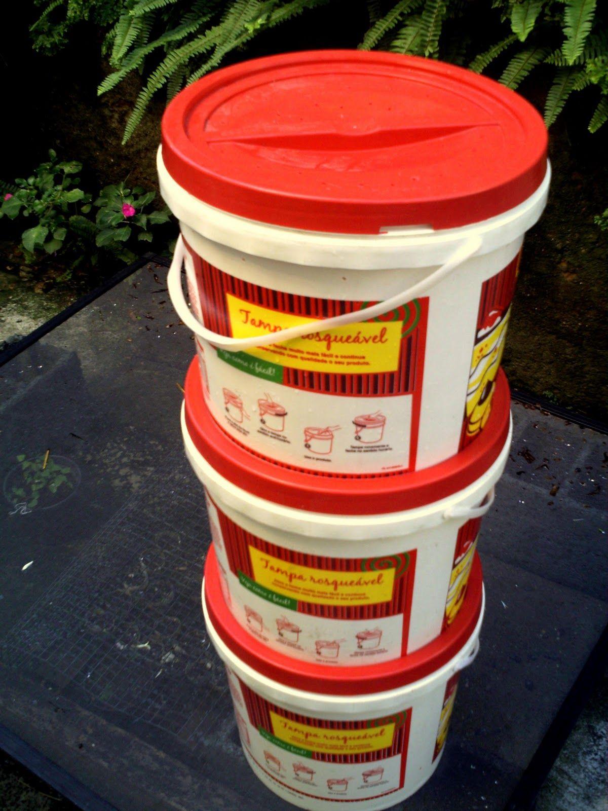 Como fazer um minhocário com baldes plásticos #reutilize ...