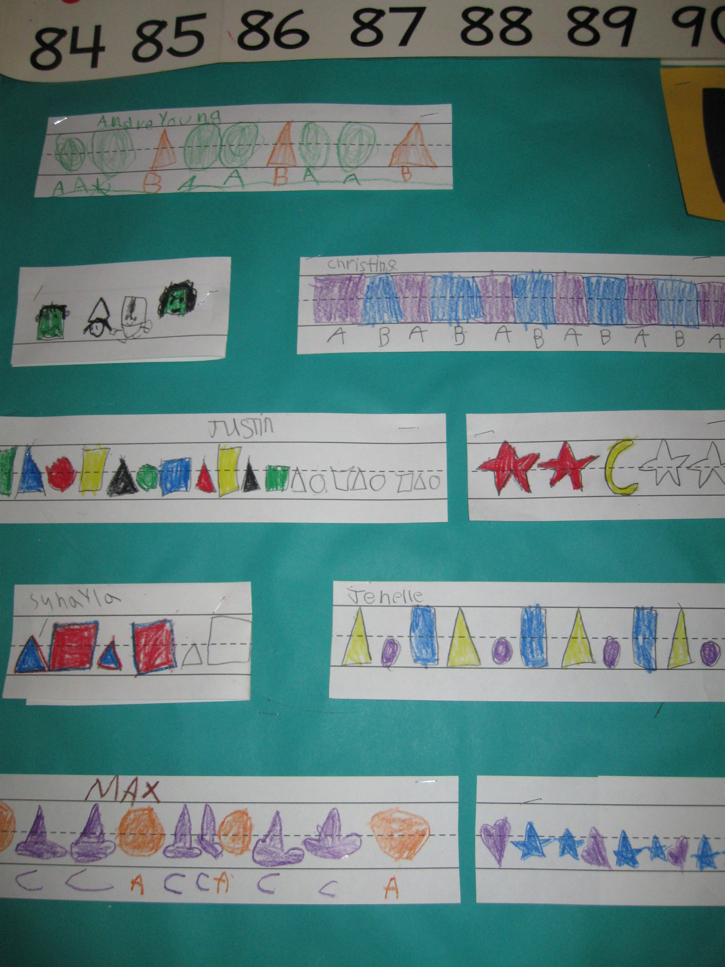Students created their own pattern. Good for math workshop. Good for ...
