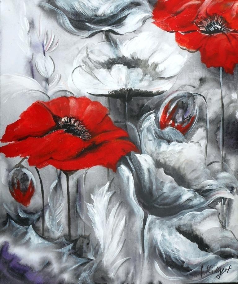 Encaustic Schellac Kunst Flora 4 By N Winkel Encaustic