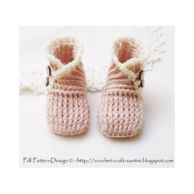 Ravelry: Wrap and Button Baby Booties - 4 sizes, 0-24 Months ...