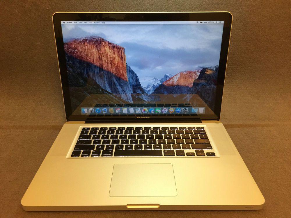 Apple Macbook Pro A1286 15 4 Laptop Mb985ll A June 2009 2 66ghz 8gb 320gb Apple Macbook Pro Apple Macbook Macbook Pro A1286