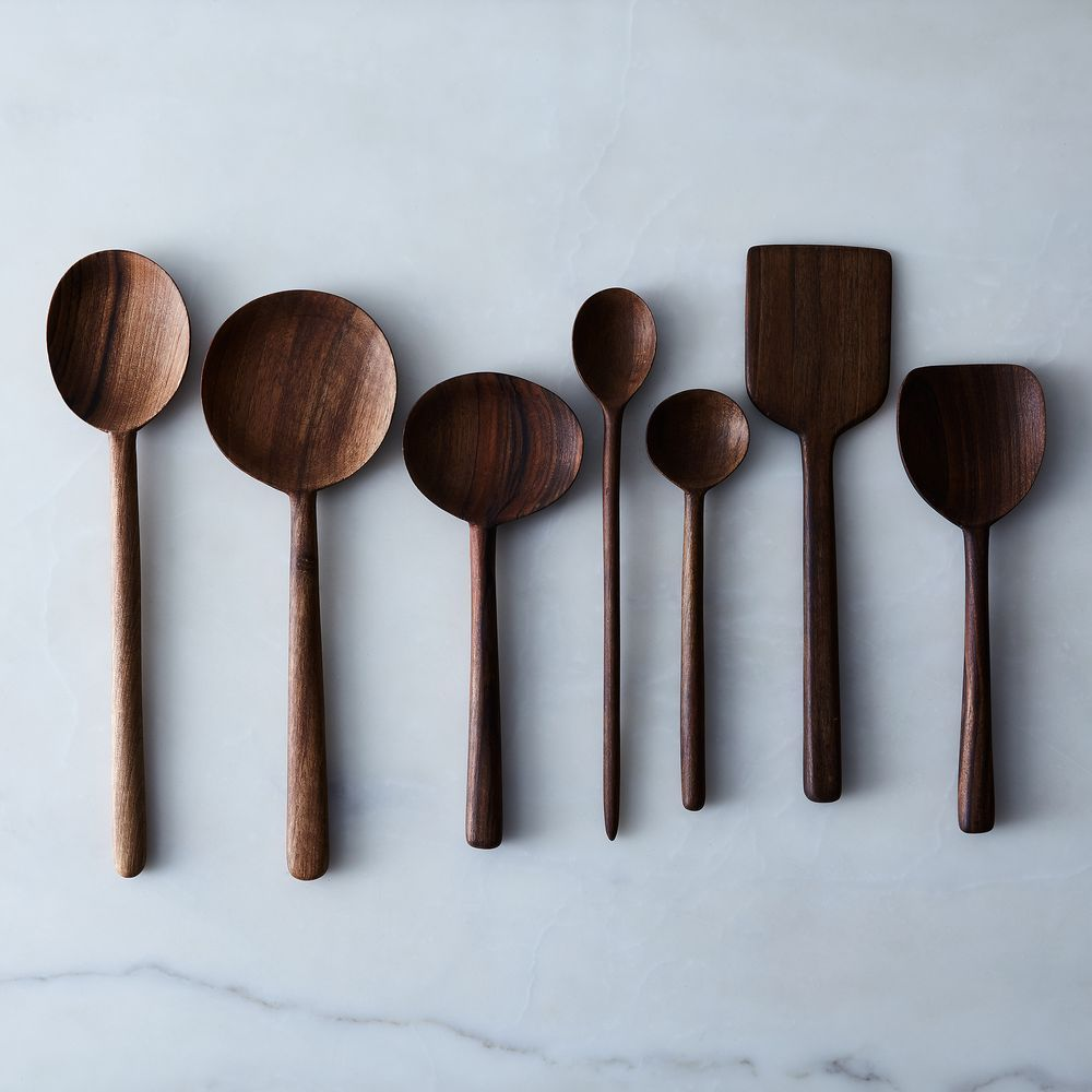 Simple Walnut Wooden Spoons | Wooden spoon, Spoon and Kitchens