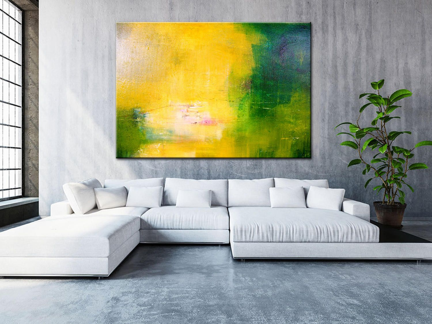 Colorful Large Art Natural Colors Minimal Decor Art | Art ...