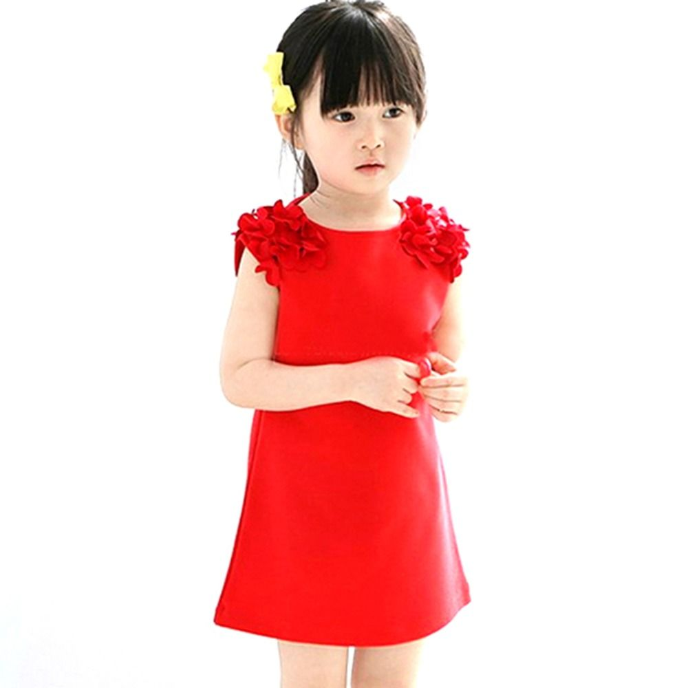 Click to buy ucuc summer baby kids girls flower sleeveless