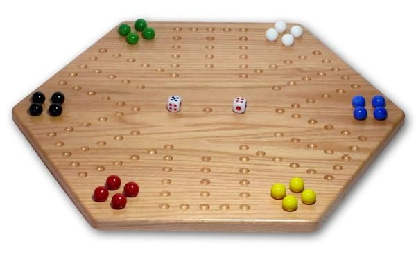 Marble Game With Wooden Board Solid Oak Doublesided Aggravation Wahoo Game Board Unpainted