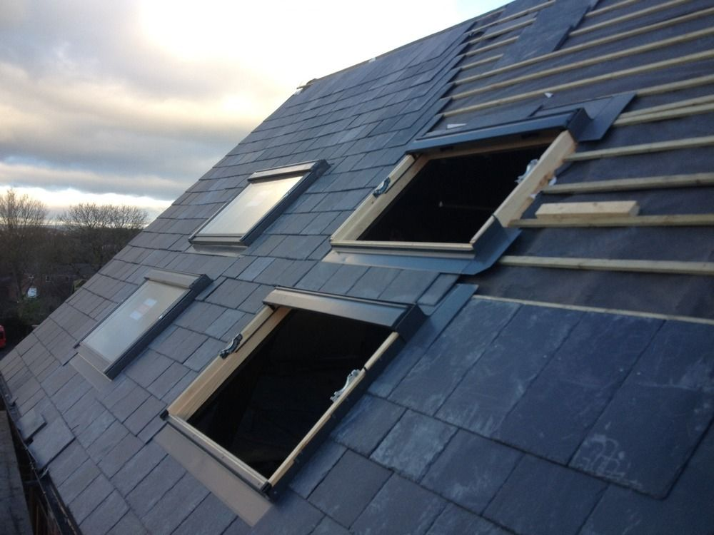 Slate Roofing Job With Velux Windows By J Building Roofing Make Your Home Design Dreams Come True Read Reviews Of 1000s Velux Windows Roofing Roofing Jobs