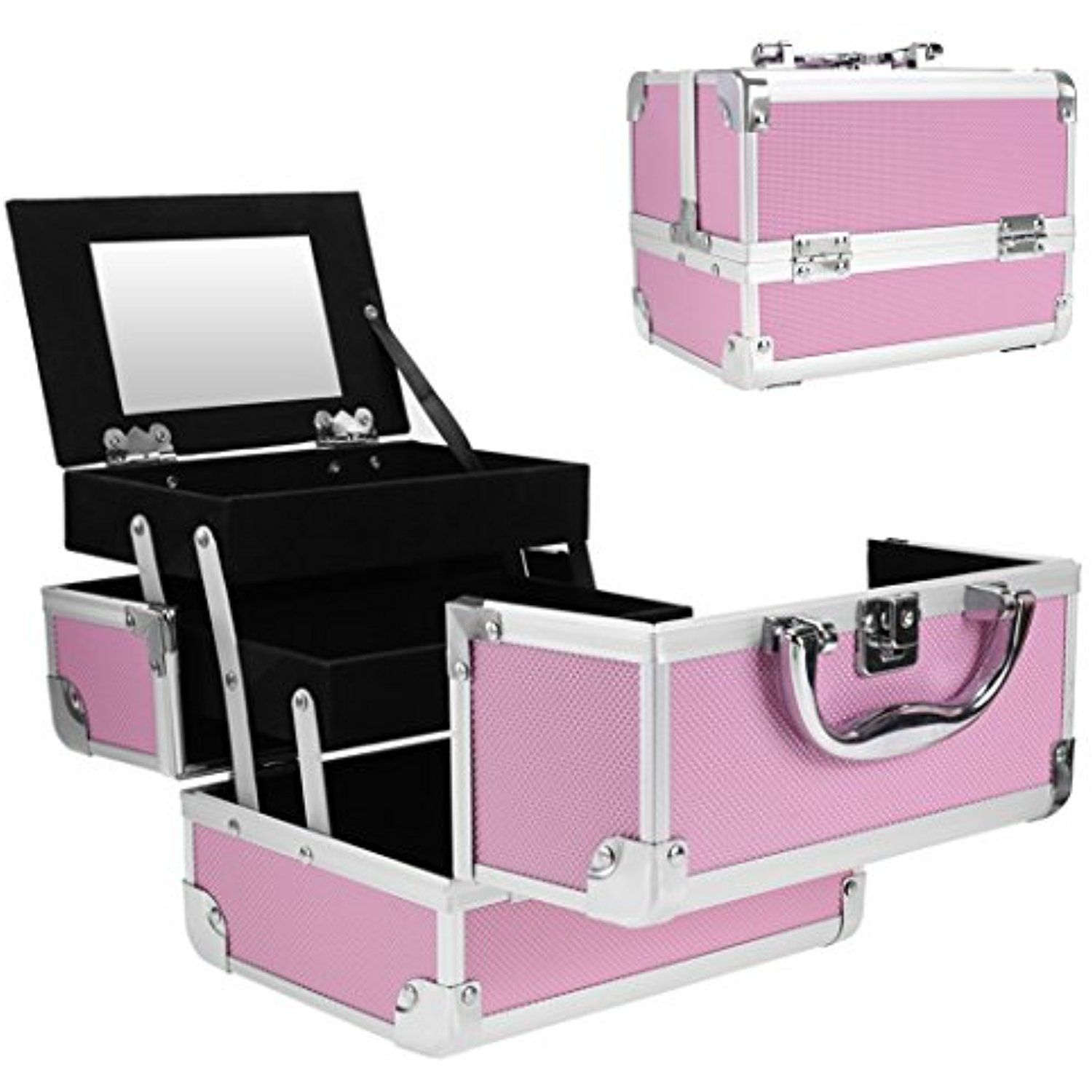 Jaketen Professional Small Makeup Train Case Cosmetic