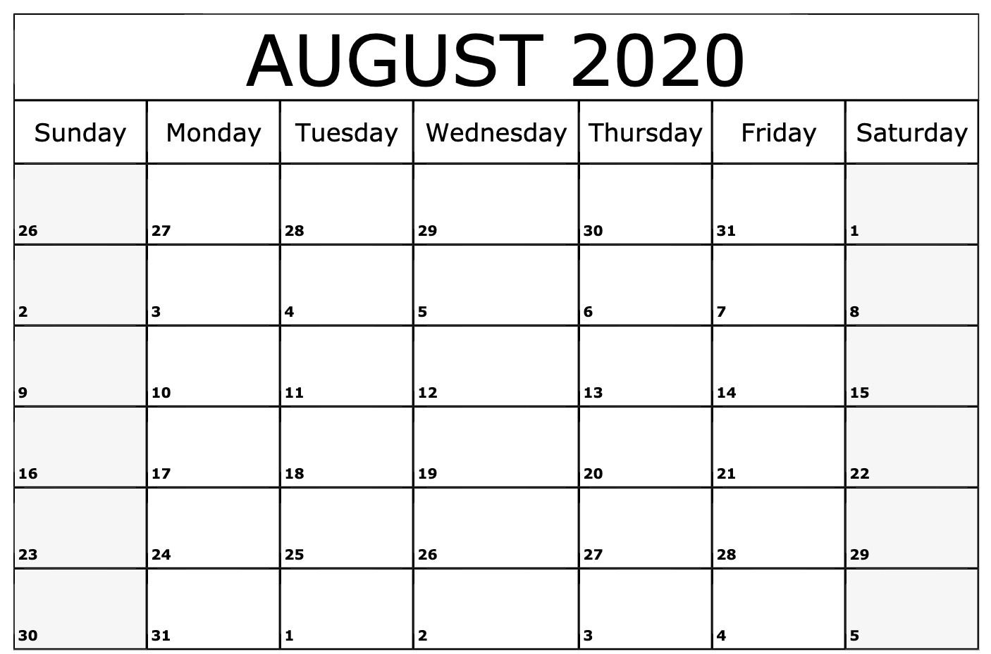 8. August 2020