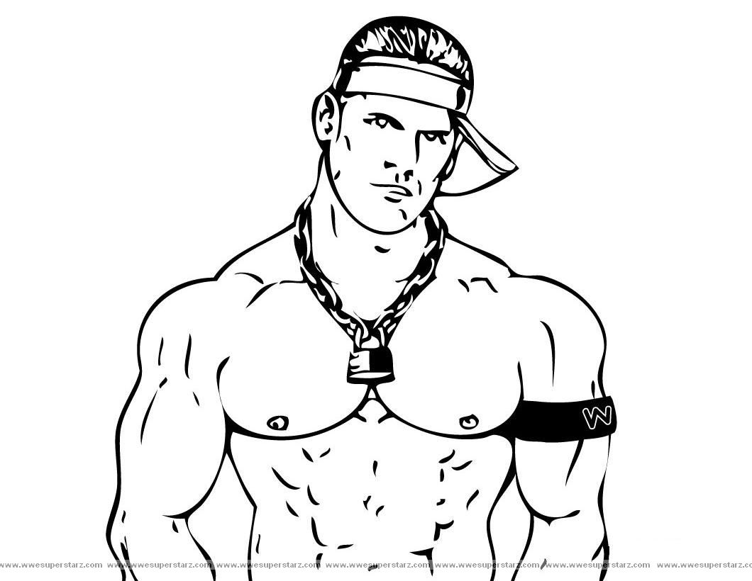 Wwe coloring games online - John Cena Printable Coloring Pages Free Printable Wwe Coloring Pages For Kids