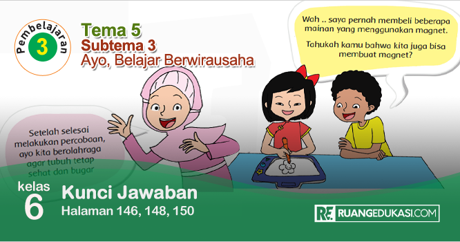 Lengkap Kunci Jawaban Buku Tematik Tema 5 Kelas 6 Wirausaha Kurikulum 2013 Revisi Buku Pelajaran Buku Sekolah Dasar