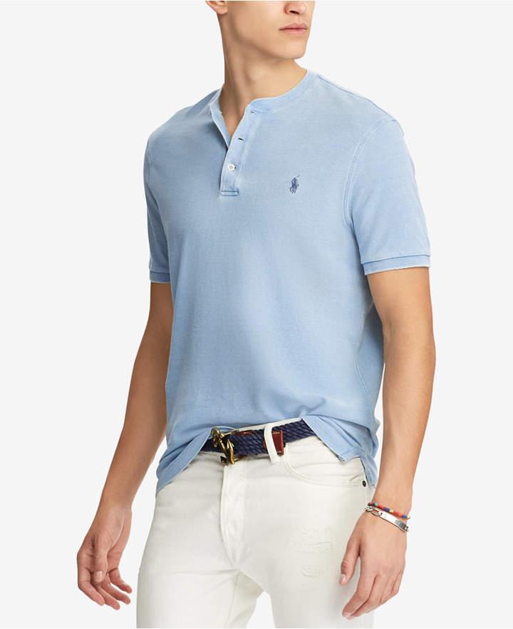 51f023ec3 Polo Ralph Lauren Men s Featherweight Mesh Henley T-Shirt