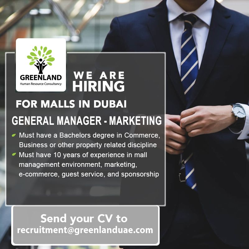General Manager Marketing Must Have A Bachelors Degree In