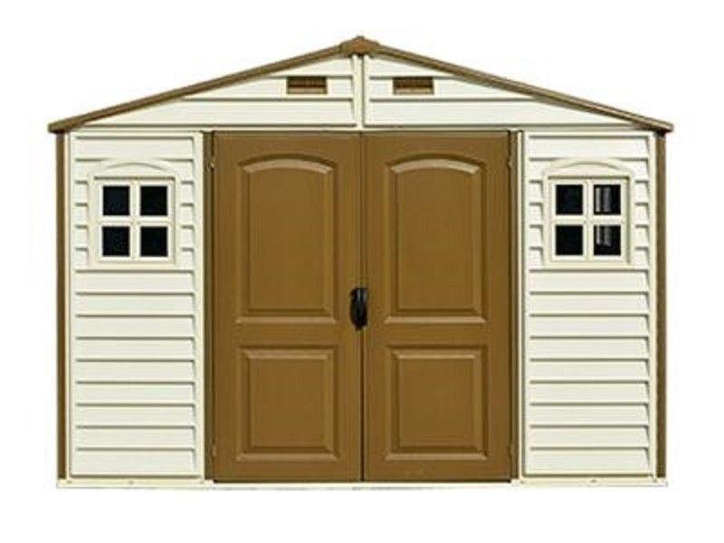 Large Garden Shed 10 x 8Ft Storage Windows Doors Roof Foundation Kit