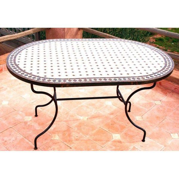Très belle table marocaine en Zellige Céramique avec Mosaïque ...