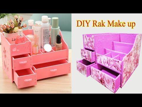 Cara Membuat Tempat Make Up Dari Kardus Bekas Ll Diy Make Up Organizer From Card Board Youtube Kardus Kotak Rias Kerajinan Kardus