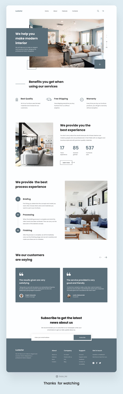 Luxterior - Interior Landing Page