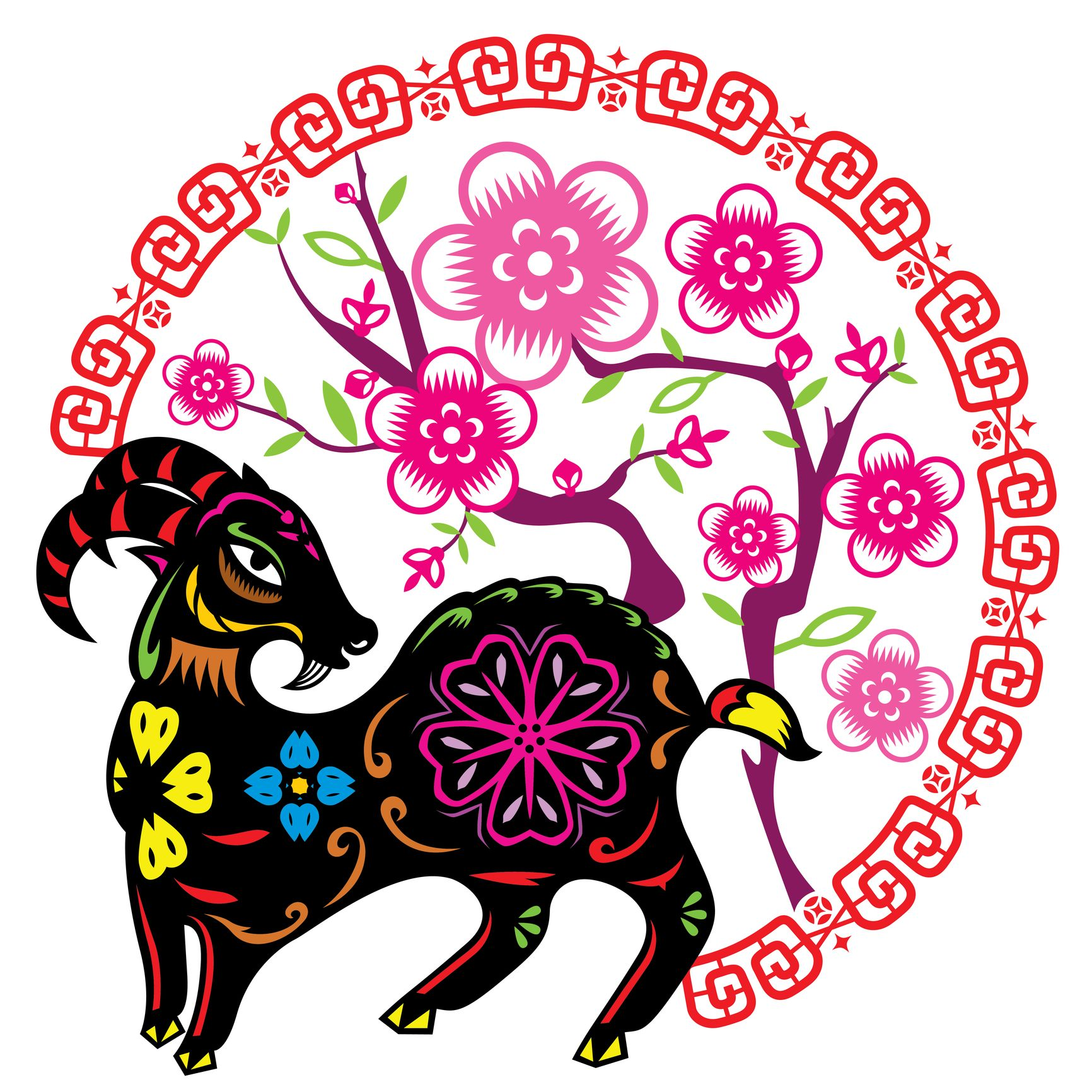 Happy chinese lunar new year of goat 2015 funny cute happy chinese lunar new year of goat 2015 kristyandbryce Choice Image