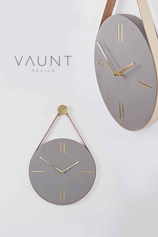 Mono Concrete Hanging Wall Clock is part of Unique Home Accessories Vases - Our Mono concrete hanging wall clock screams industrial style! With its leather strap and minimal, edgy design, it looks as stylish in the kitchen as it does the bedroom or dining room  The premium leather strap hangs from a brass hook, resulting in a wall clock design you're unlikely to find anywhere else  Skillfully crafted and assembled by our expert artisans; this is one beautiful timepiece  Dimensions & detailsSize diameter 30cm, depth 2 5cmMaterial concrete with leather strapBatteries not includedSold with metal hanging hook