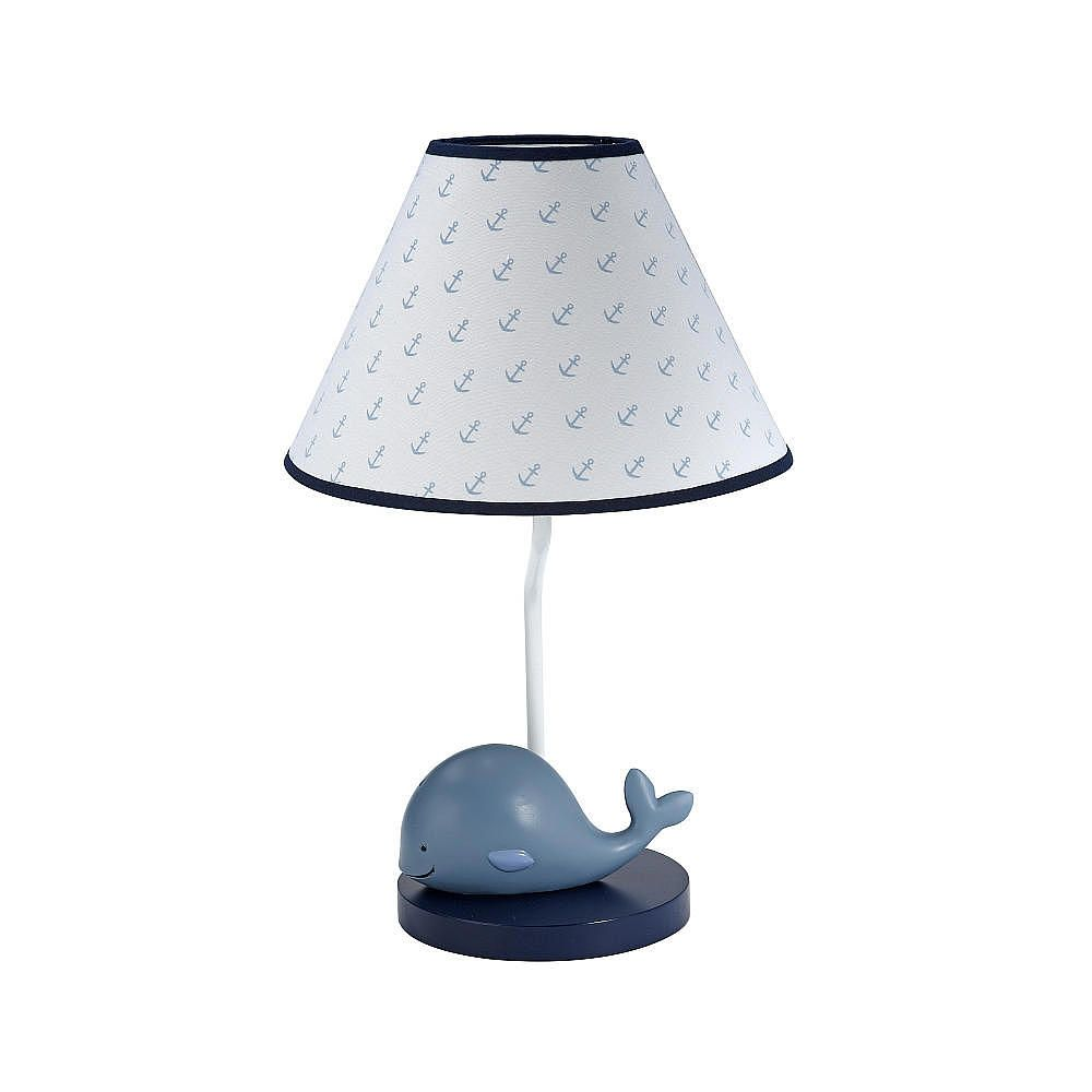 Nautica Kids Brody Lamp Amp Shade Whale 3d Resin Base With